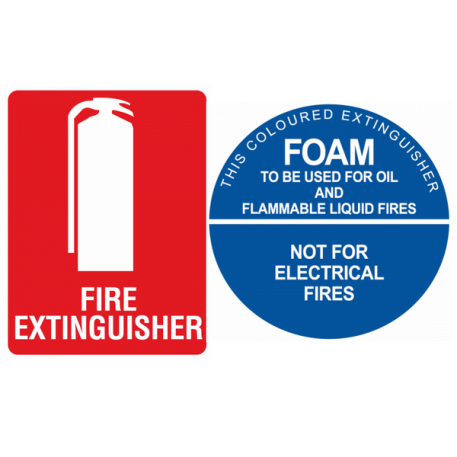 foam fire extinguisher sign kit