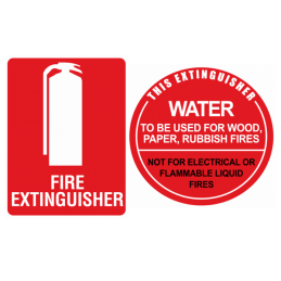 water fire extinguisher sign kit
